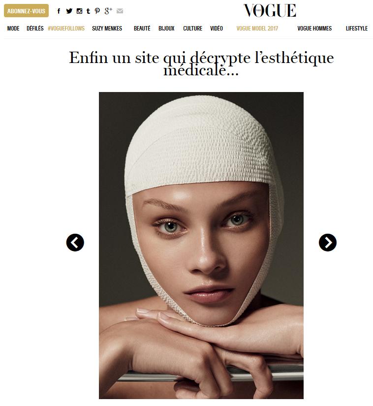 Article sur Le Journal de Mon Corps sur Vogue.fr